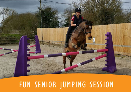 Fun Senior Horse Jumping Session
