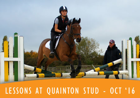 Lessons at Quainton Stud - October 2016