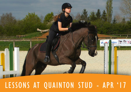 Lessons at Quainton Stud - April 2017